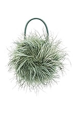 Loeffler Randall Zadie Feather Circle Tote in Sage