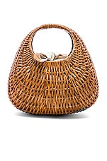 Loeffler Randall Lorna Wicker Tote in Brown