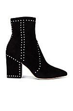 Loeffler Randall Isla Ankle Bootie in Black & Silver
