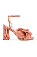 Loeffler Randall Camellia Knot Mule With Ankle Strap in Bermuda Pink