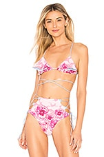 lolli swim Petal Bikini Top in Loves Me