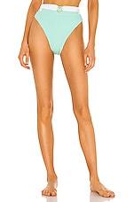 lolli swim Highwaist Bikini Bottom in Mint Stripe