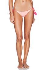 lolli swim Ritas Bikini Bottom in White & Coral