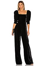 IORANE Velvet Long Jumpsuit in Black