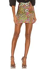 IORANE Floral Vintage Mini Skirt in Multicolor