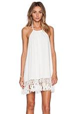 Malibu Tassel Dress in White
