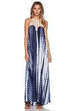 Sun Down Maxi Dress in Blue Tie Dye