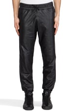 Leather Sweatpant in Black