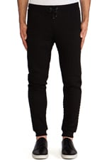 Quilted Sweatpant in Black
