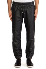 Leather Cuff Pant in Black