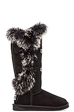 Nordic Angel Extra Tall with Rabbit Fur Trim in Black