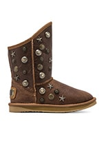 Angel Short Boot with Sheepskin in Chestnut