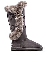 Nordic Angel Extra Tall with Rabbit Fur Trim in Gray