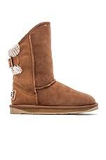 Spartan Knit Short Boot in Chestnut