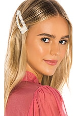 Lovers + Friends Calla Hair Clip in Pearl & Gold