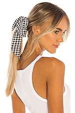 Lovers + Friends Lille Scrunchie in Black & White