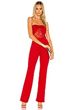 Lovers + Friends Brigid Jumpsuit in Cherry Red