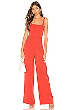 Lovers + Friends Lotus Jumpsuit in Blood Orange