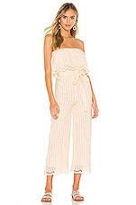 Lovers + Friends Chase Jumpsuit in Natural