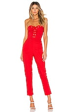 Lovers + Friends Gino Jumpsuit in Cherry Red