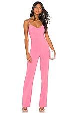 Lovers + Friends Monroe Jumpsuit in Bubblegum Pink
