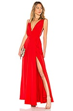 Lovers + Friends Leah Gown in Red Rose