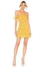 Lovers + Friends Cendall Dress in Goldenrod Ditsy