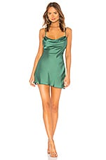 Lovers + Friends Boa Mini Dress in Green
