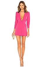 Lovers + Friends City Blazer Dress in Magenta Pink