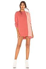 Lovers + Friends Gameday Sweatshirt Dress in Mixed Rose