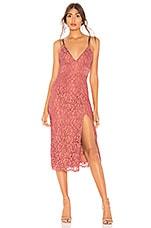 Lovers + Friends Saba Midi Dress in Mauve