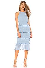 Lovers + Friends Mardi Midi Dress in Powder Blue