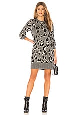 Lovers + Friends Speak Up Sweater Dress in Charcoal Leopard