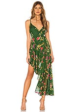 Lovers + Friends Caterina Dress in Jade Floral