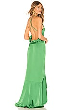 Lovers + Friends Maya Gown in Green