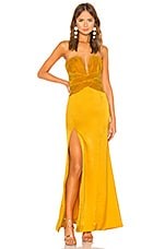 Lovers + Friends Eloa Gown in Gold Yellow
