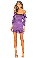 Lovers + Friends Orson Mini Dress in Royal Purple