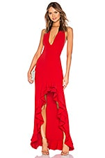 Lovers + Friends Fama Gown in Red