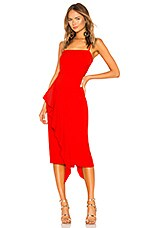 Lovers + Friends Cleo Midi Dress in Bright Red