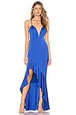 Lovers + Friends Carly Gown in Cobalt