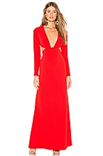 Lovers + Friends Tessa Gown in Red