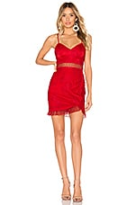 Lovers + Friends Lissa Mini Dress in Deep Red