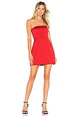 Lovers + Friends Calla Mini Dress in Bight Red