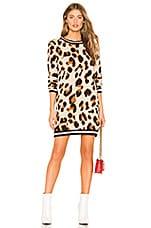 Lovers + Friends Closing In Sweater Dress in Leopard