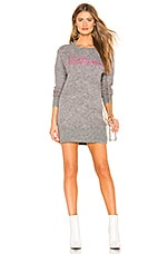 Lovers + Friends For Lovers Sweater Dress in Heather Grey & Pink