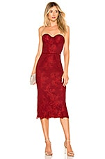 Lovers + Friends Tinley Midi Dress in Romance Red