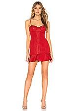 Lovers + Friends Aubrey Dress in Firecracker Red