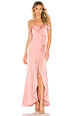 Lovers + Friends Federico Gown in Pink