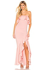Lovers + Friends Chandler Gown in Light Pink