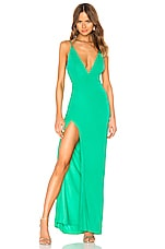 Lovers + Friends Maddox Gown in Green